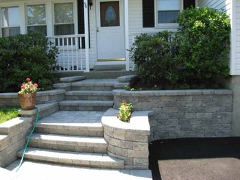 Steps completed by BMF Masonry in Bergen County