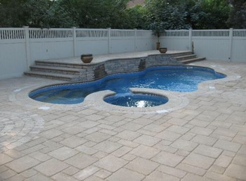 Stone Work & Patio surrounding the Pool