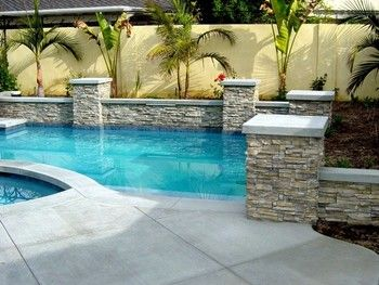 Stone Work & Patio Surrounding the Swimming Pools