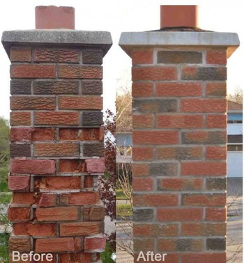 Before and After Chimney Repairs