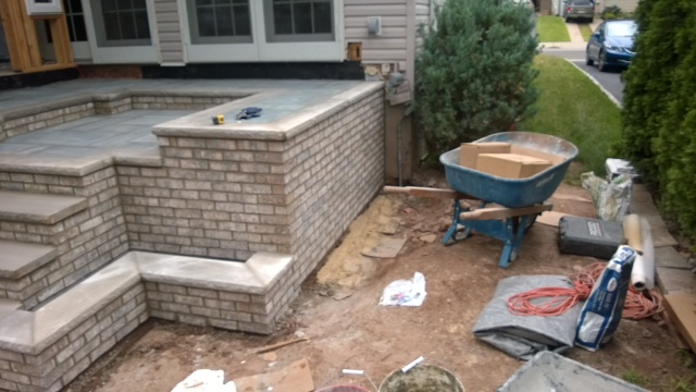 Brick Pavers for a New Patio in Saddle Brook, NJ