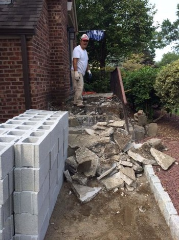 Beautiful Masonry work by BMF Masonry in Saddlebrook, NJ