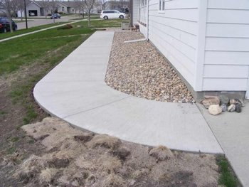 Concrete Sidewalk in NJ by BMF Masonry