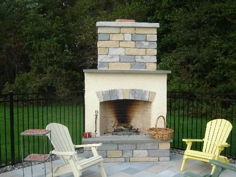 Outdoor Fireplace in Saddle Brook, NJ (1)