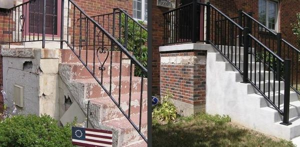 Before & After New Concrete Steps in Saddle Brook, NJ (1)